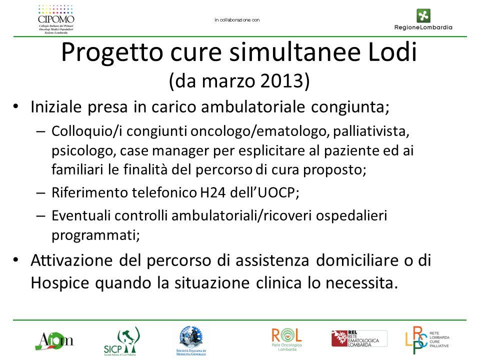 Progetto cure simultanee Lodi (da marzo 2013)