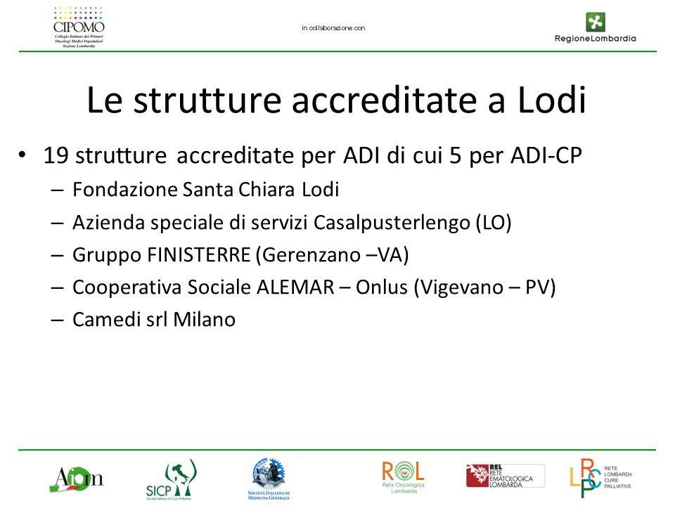 Le strutture accreditate a Lodi