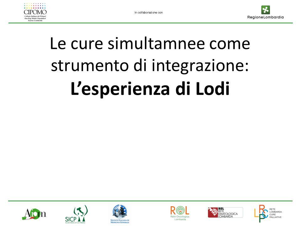 Le cure simultamnee come strumento di integrazione: L'esperienza di Lodi