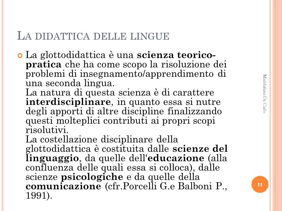 La didattica delle lingue
