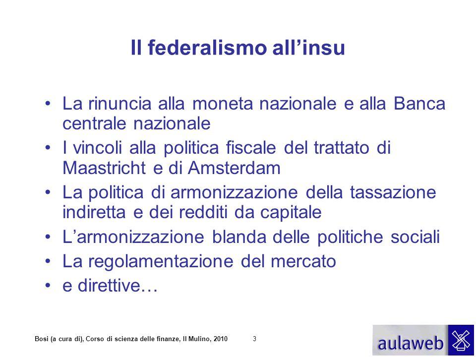 Il federalismo all'insu