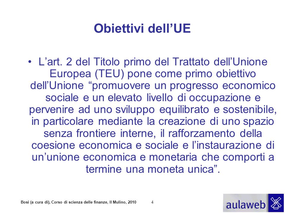 Obiettivi dell'UE