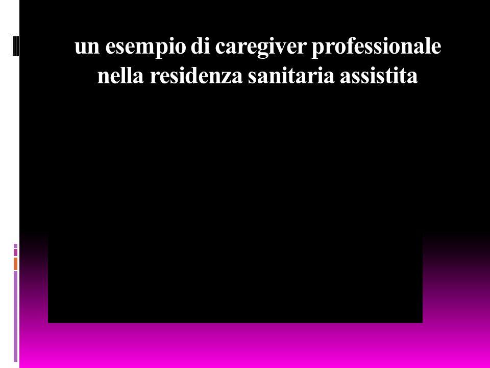 un esempio di caregiver professionale nella residenza sanitaria assistita San Michele Hospital di Aprilia