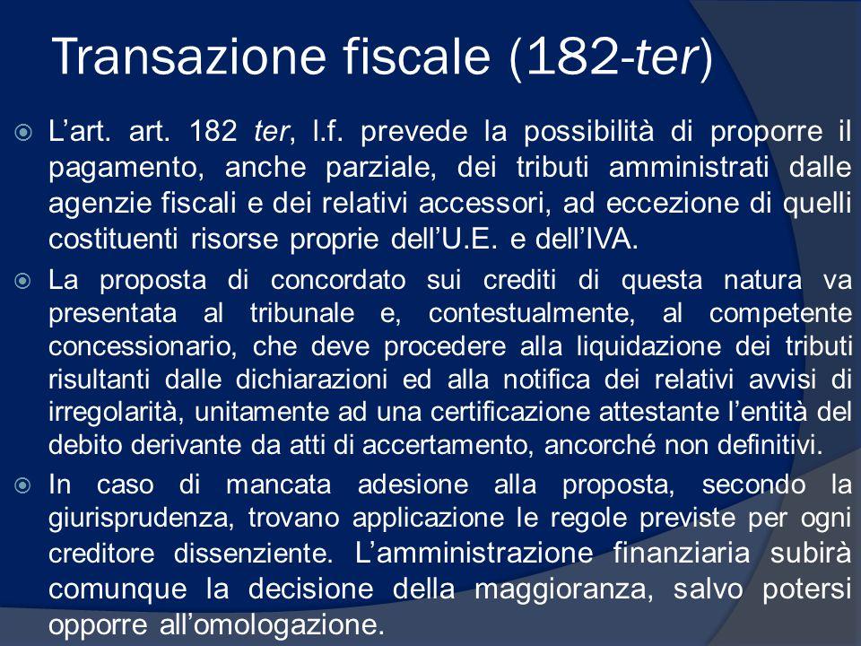 Transazione fiscale (182-ter)