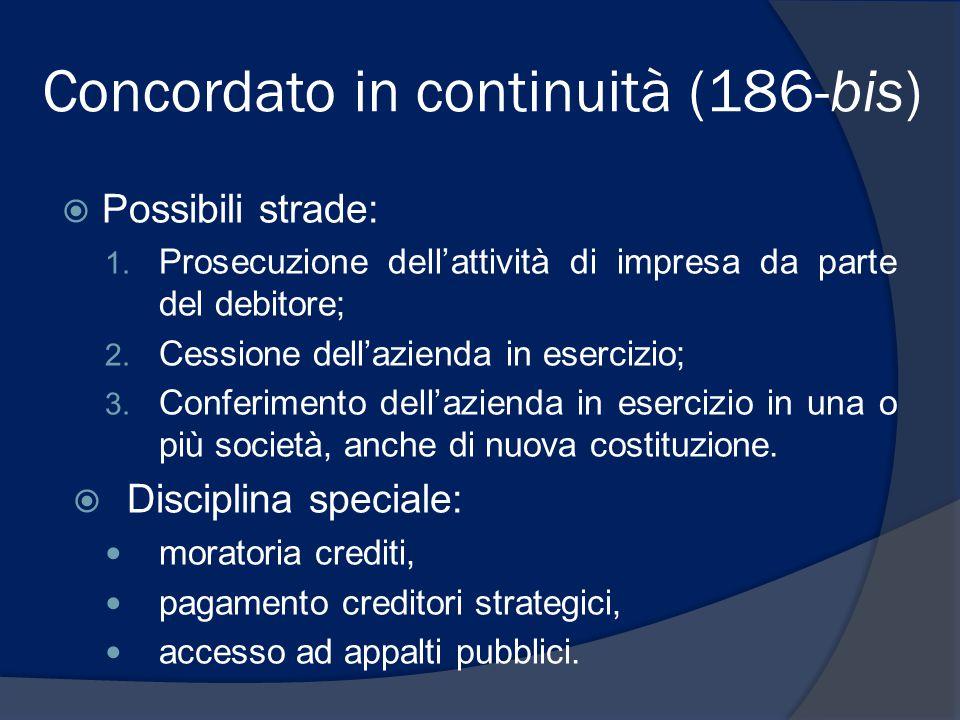 Concordato in continuità (186-bis)