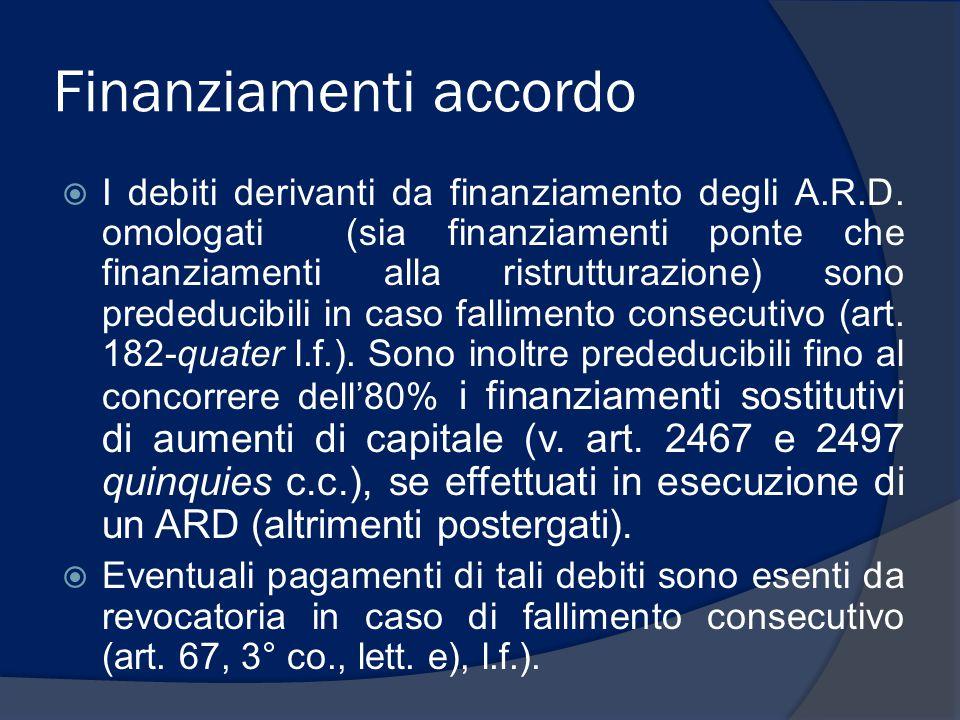 Finanziamenti accordo