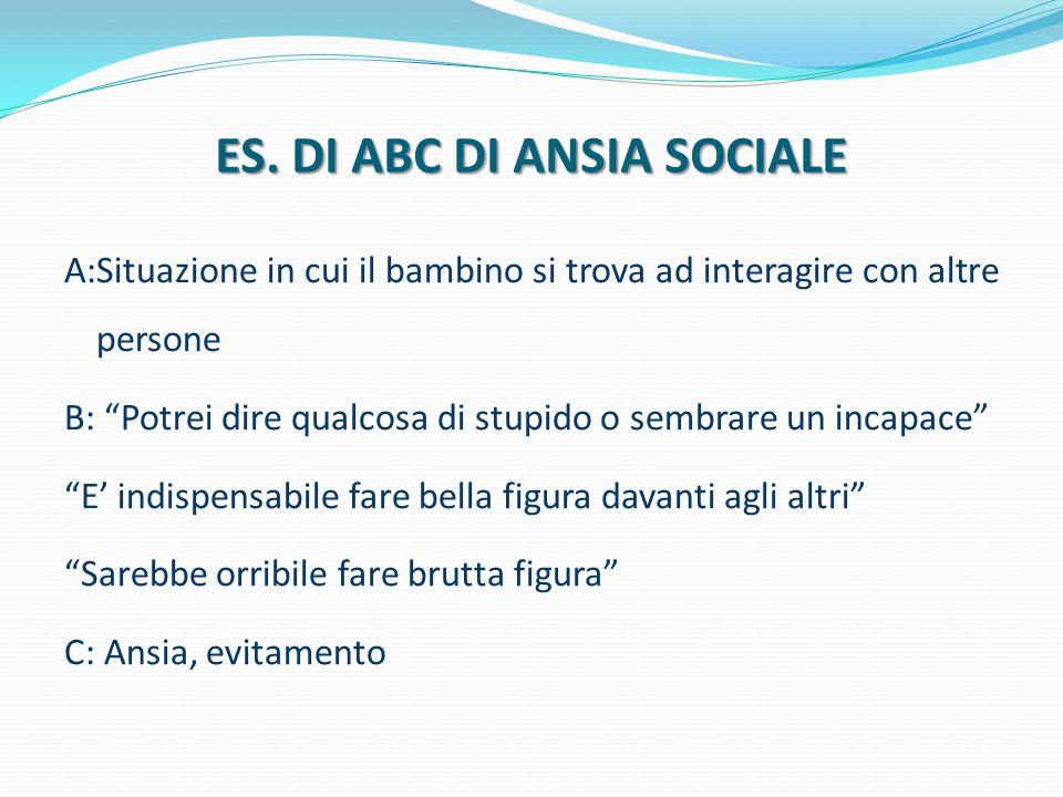 ES. DI ABC DI ANSIA SOCIALE