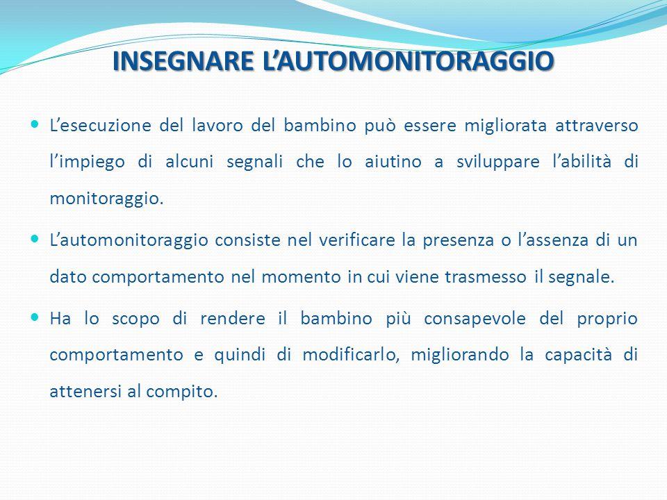 INSEGNARE L'AUTOMONITORAGGIO
