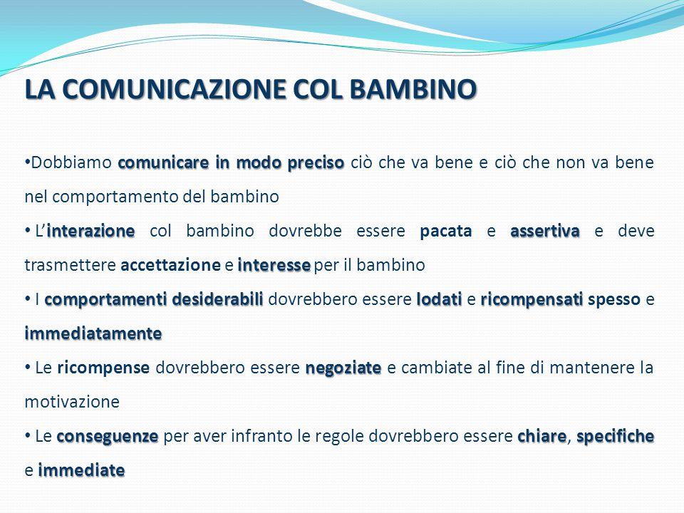 LA COMUNICAZIONE COL BAMBINO