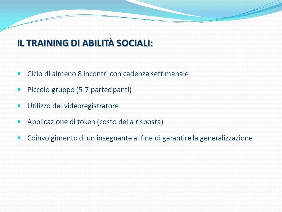 IL TRAINING DI ABILITÀ SOCIALI: