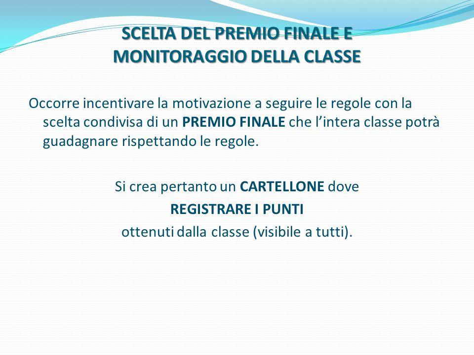 SCELTA DEL PREMIO FINALE E MONITORAGGIO DELLA CLASSE