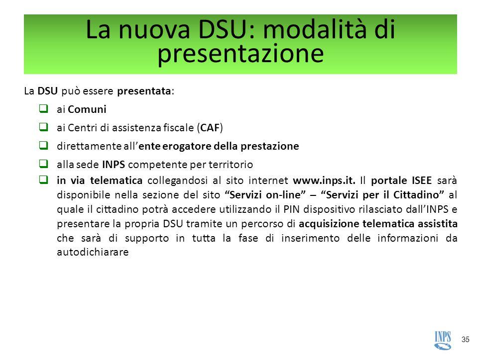 La nuova DSU: modalità di presentazione
