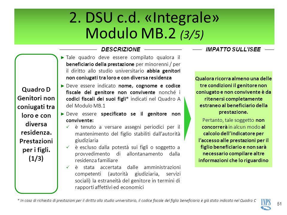 2. DSU c.d. «Integrale» Modulo MB.2 (3/5)