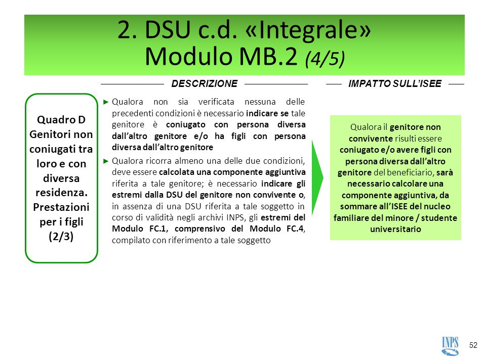 2. DSU c.d. «Integrale» Modulo MB.2 (4/5)