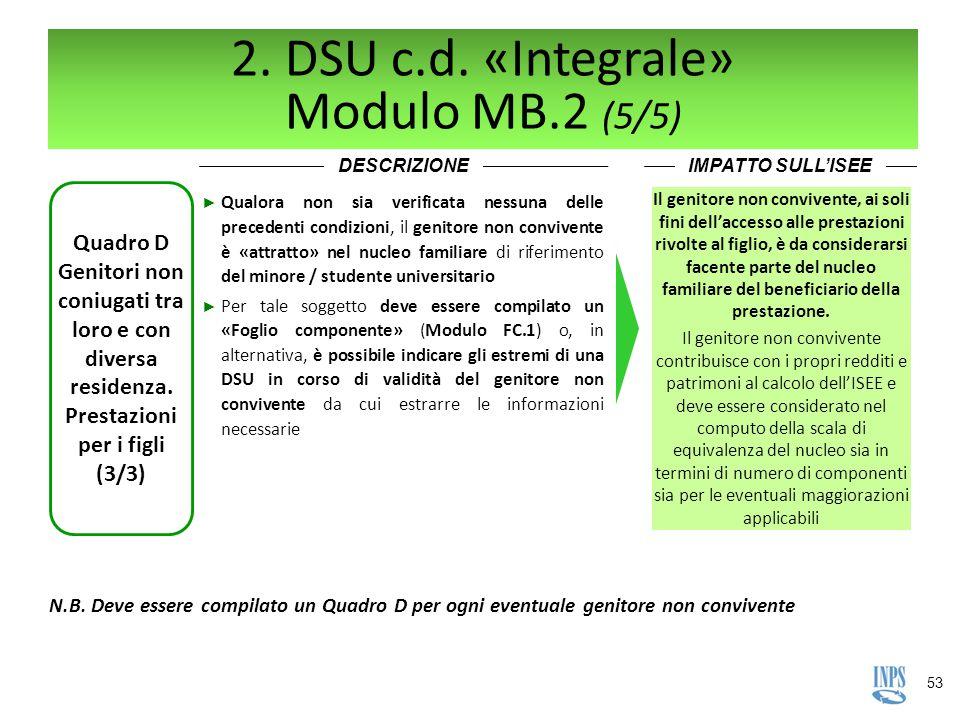 2. DSU c.d. «Integrale» Modulo MB.2 (5/5)