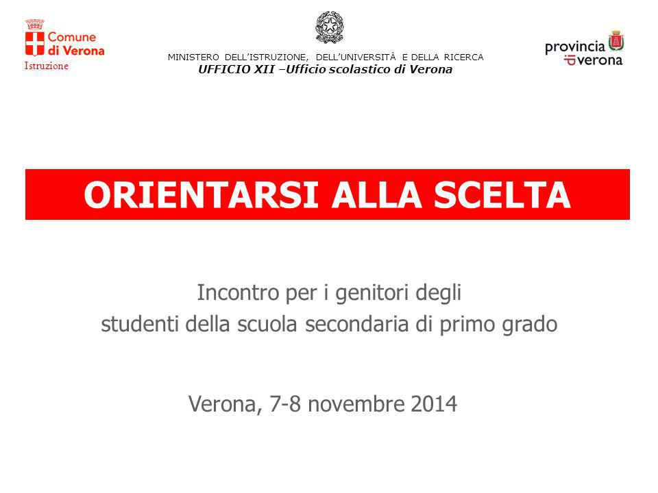 UFFICIO XII –Ufficio scolastico di Verona ORIENTARSI ALLA SCELTA