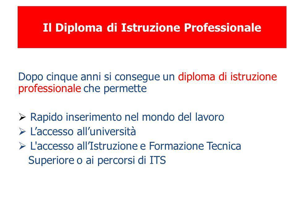 Il Diploma di Istruzione Professionale