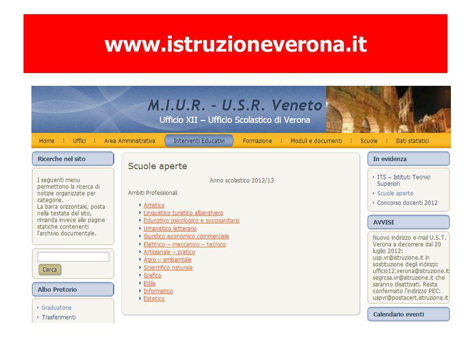 www.istruzioneverona.it Cambiare schermata