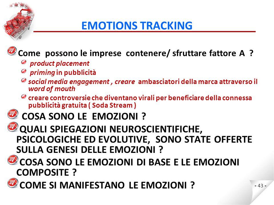 EMOTIONS TRACKING COSA SONO LE EMOZIONI
