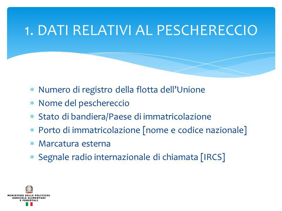 1. DATI RELATIVI AL PESCHERECCIO