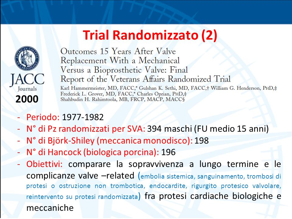 Trial Randomizzato (2) 2000 Periodo: 1977-1982
