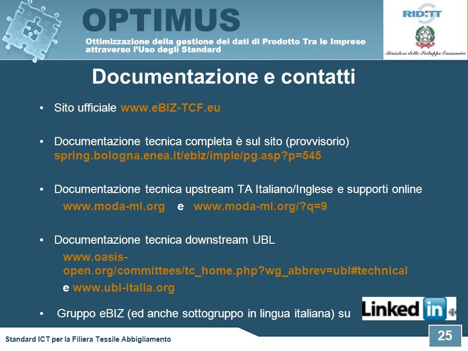Documentazione e contatti