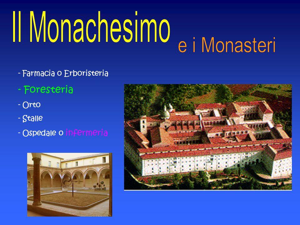 Foresteria e i Monasteri - Farmacia o Erboristeria Orto Stalle