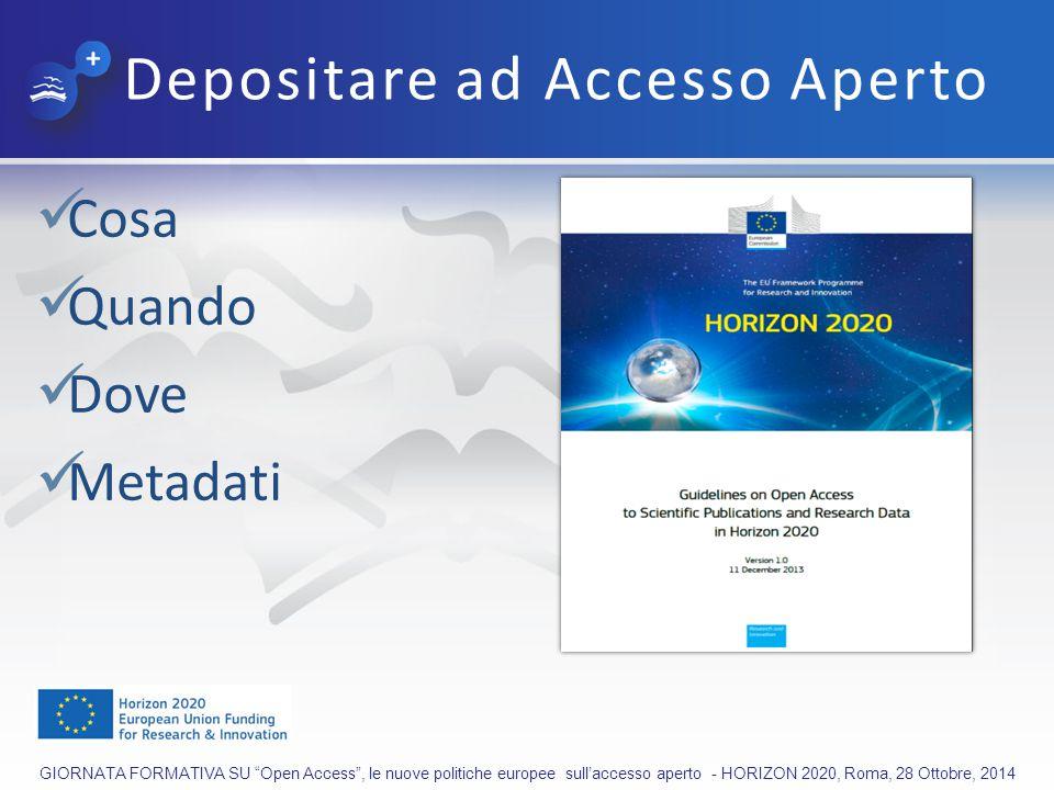 Depositare ad Accesso Aperto