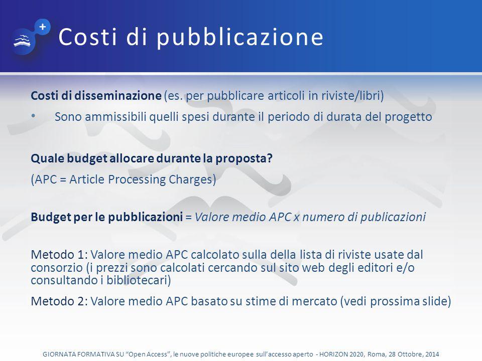 Costi di pubblicazione
