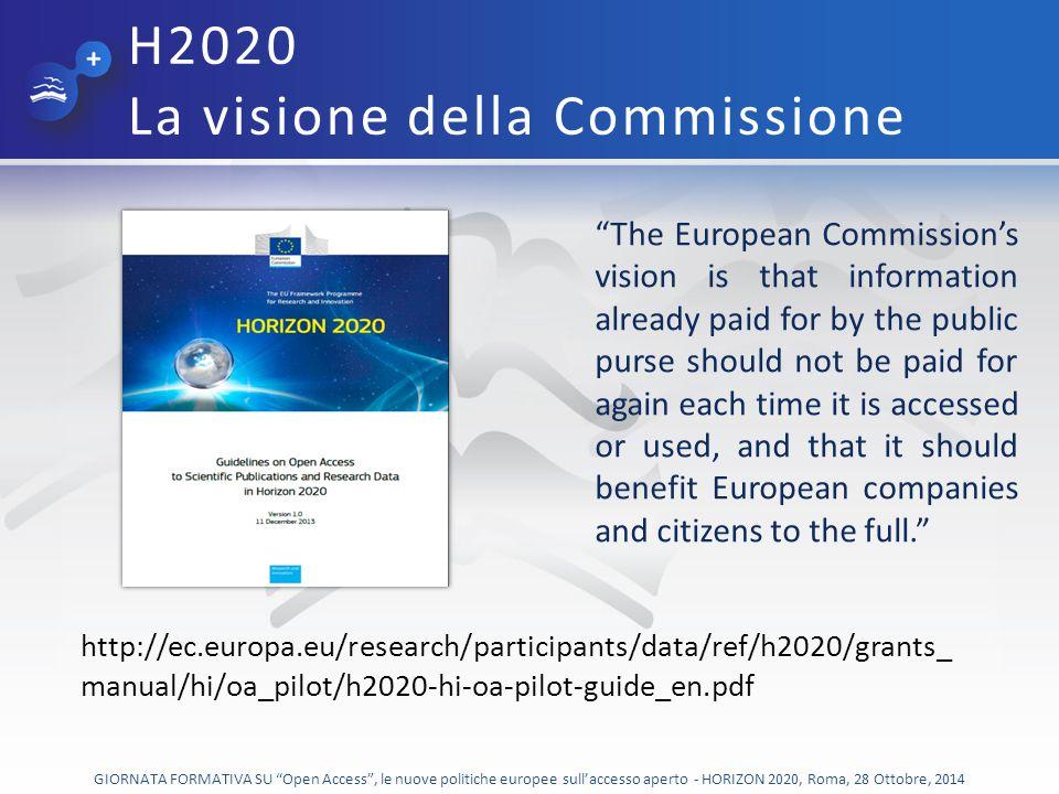 H2020 La visione della Commissione