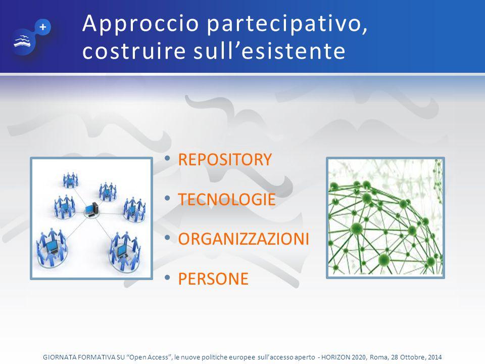 Approccio partecipativo, costruire sull'esistente