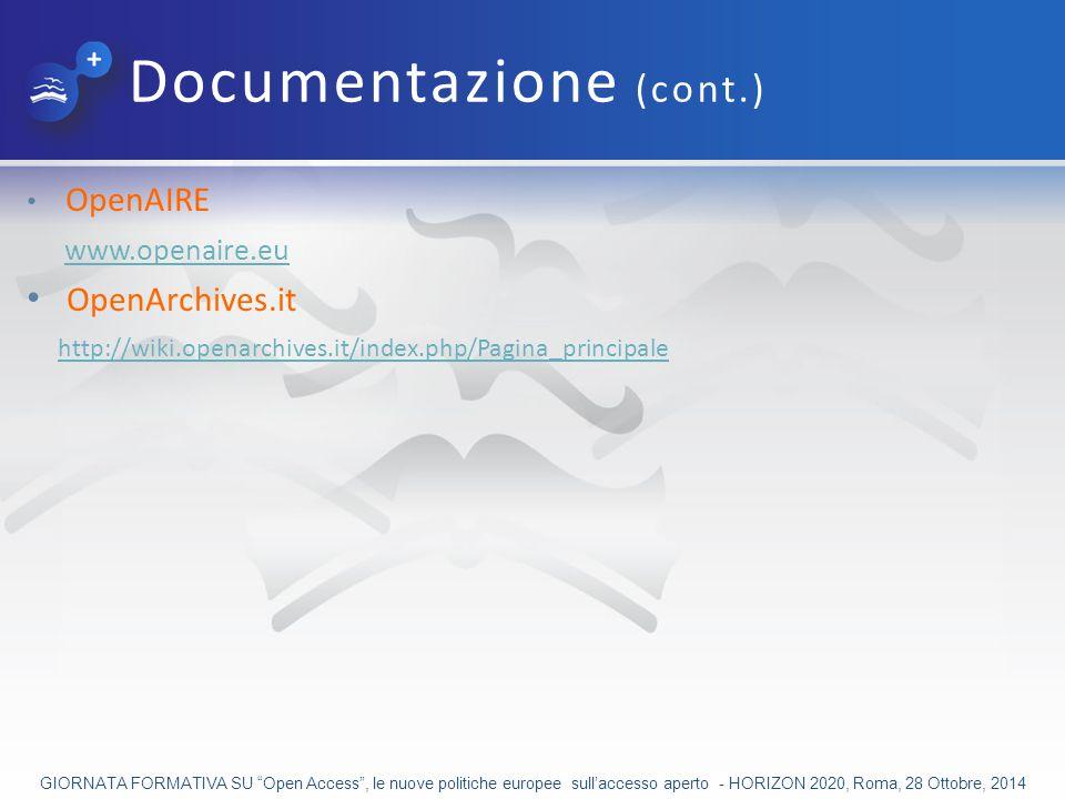 Documentazione (cont.)