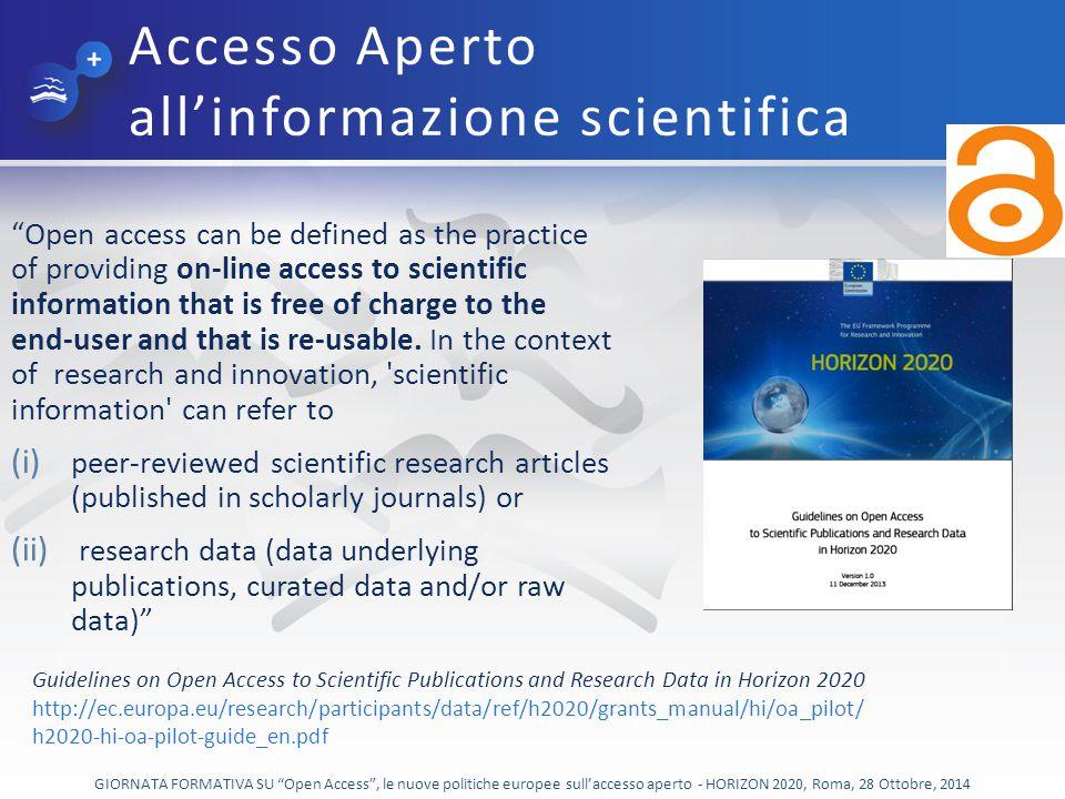 Accesso Aperto all'informazione scientifica