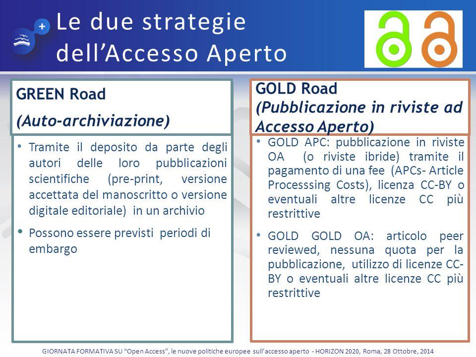 Le due strategie dell'Accesso Aperto