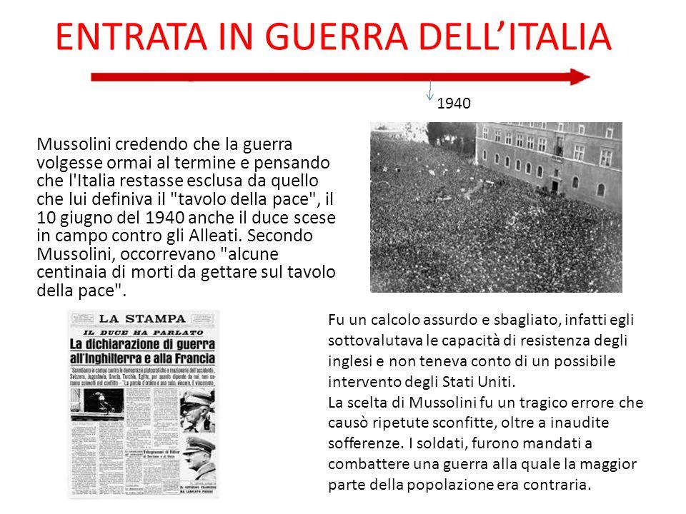 ENTRATA IN GUERRA DELL'ITALIA