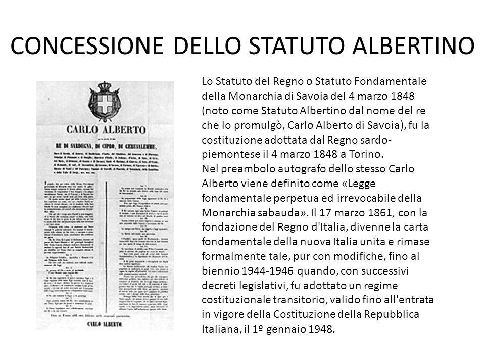 CONCESSIONE DELLO STATUTO ALBERTINO