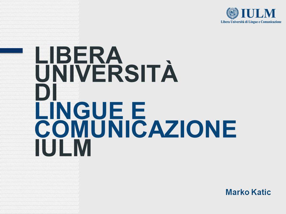 LINGUE E COMUNICAZIONE IULM