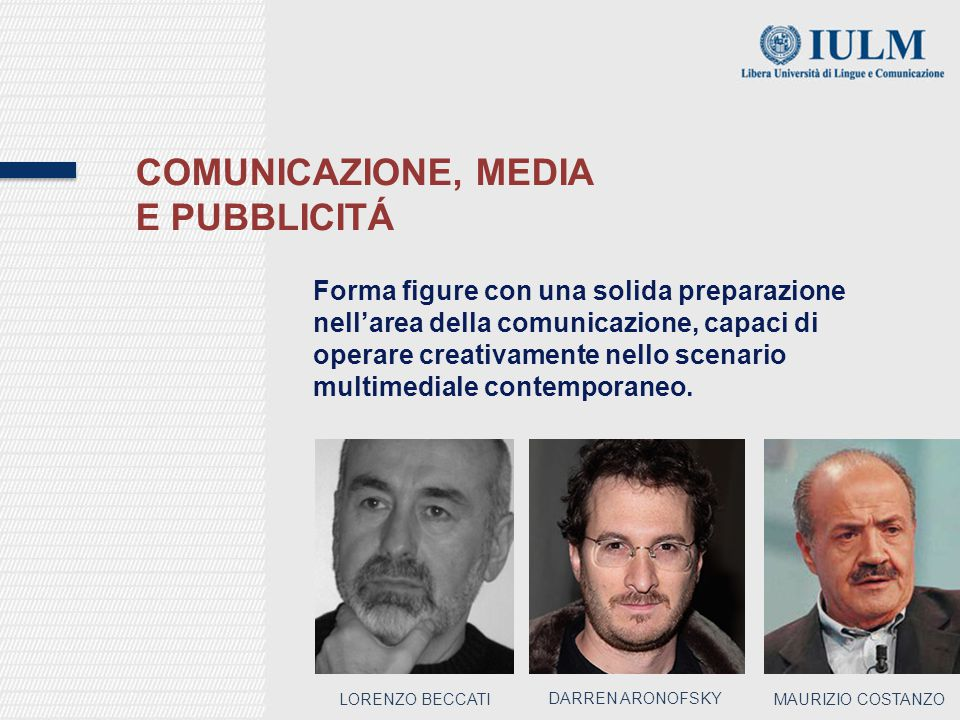 Comunicazione, media e pubblicitÁ