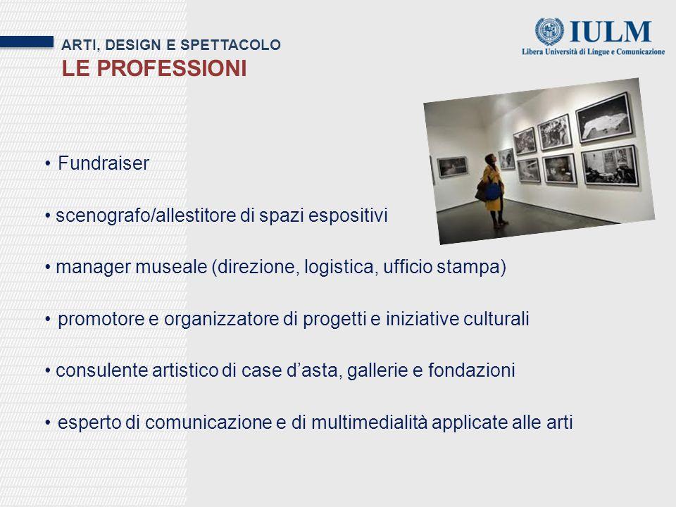 Le professioni Fundraiser scenografo/allestitore di spazi espositivi