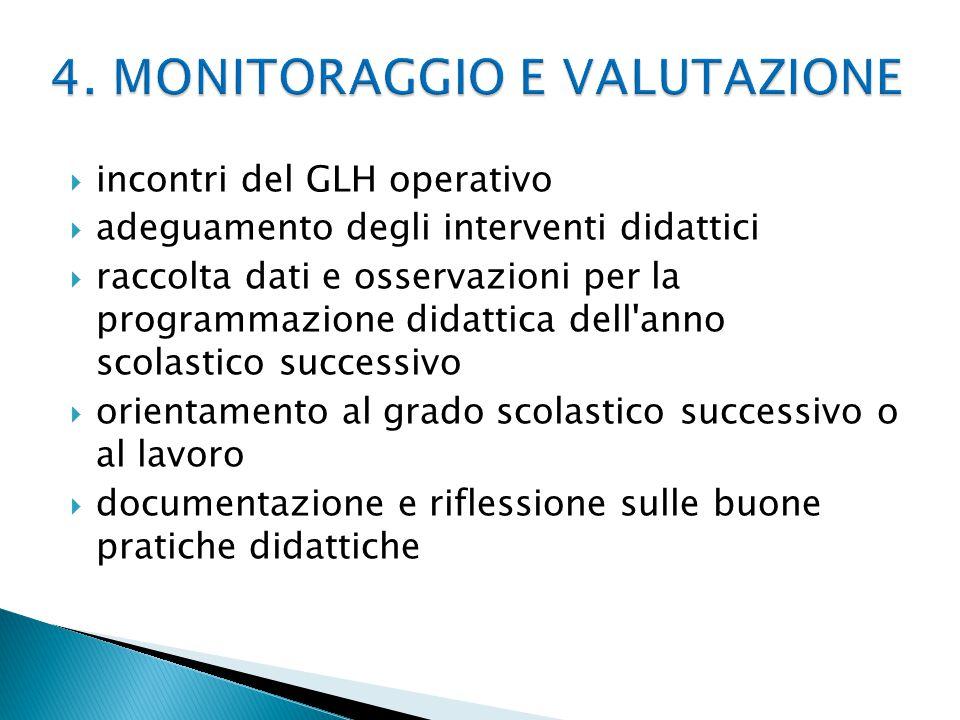 4. MONITORAGGIO E VALUTAZIONE