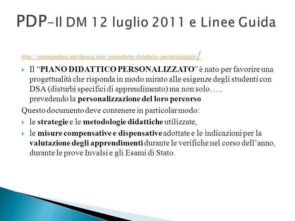 PDP-Il DM 12 luglio 2011 e Linee Guida