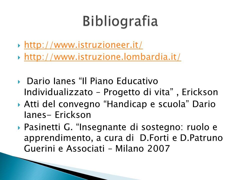 Bibliografia http://www.istruzioneer.it/