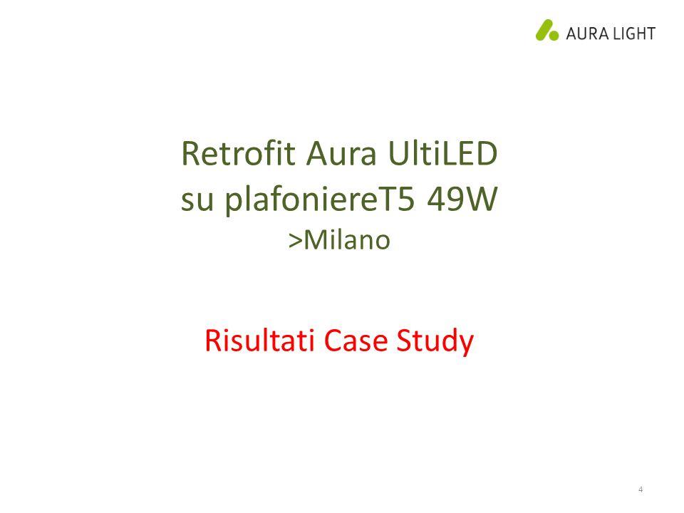 Retrofit Aura UltiLED su plafoniereT5 49W Risultati Case Study