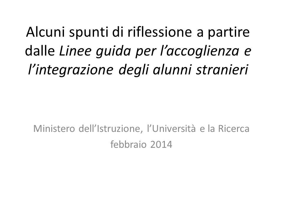 Ministero dell'Istruzione, l'Università e la Ricerca febbraio 2014