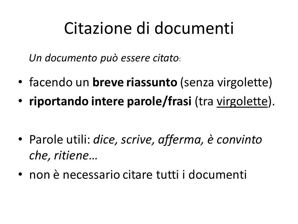 Citazione di documenti