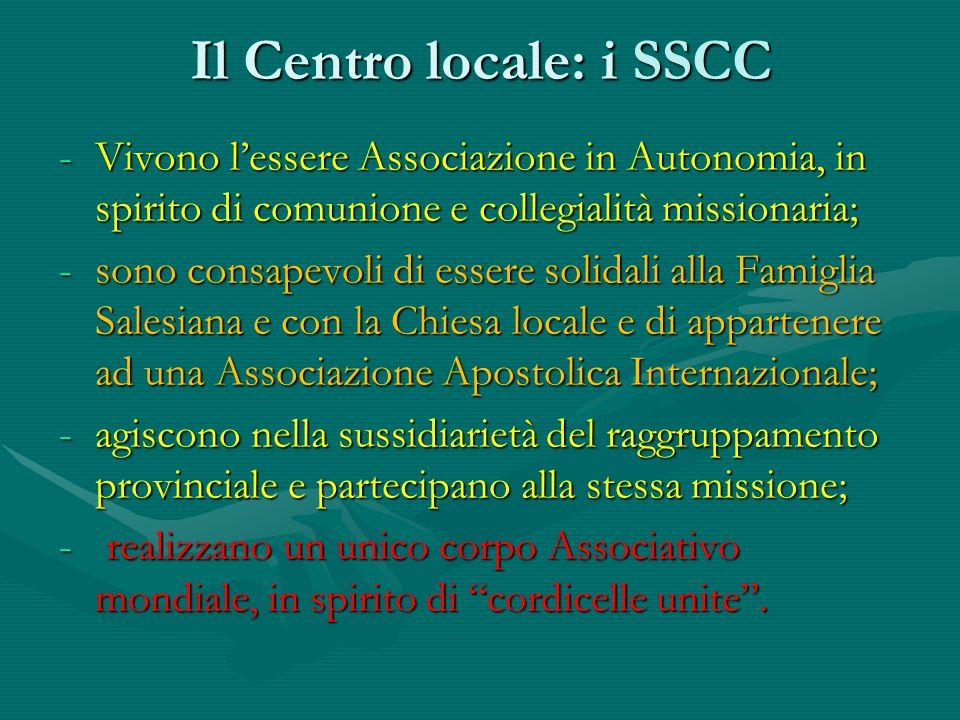 Il Centro locale: i SSCC