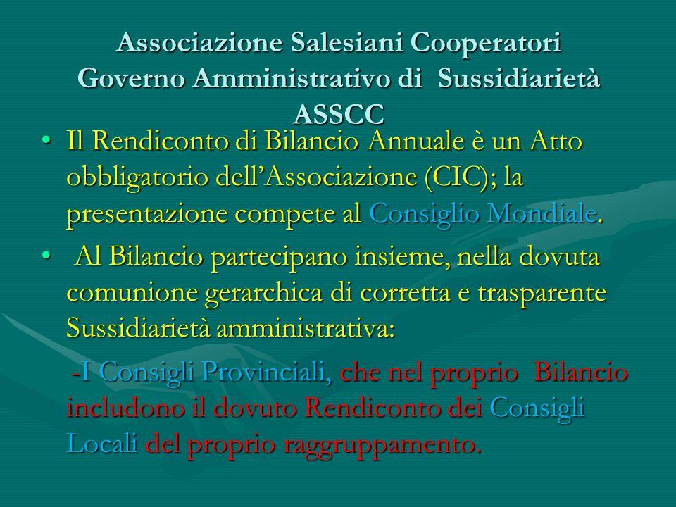 Associazione Salesiani Cooperatori Governo Amministrativo di Sussidiarietà ASSCC