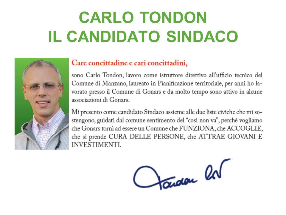 CARLO TONDON IL CANDIDATO SINDACO