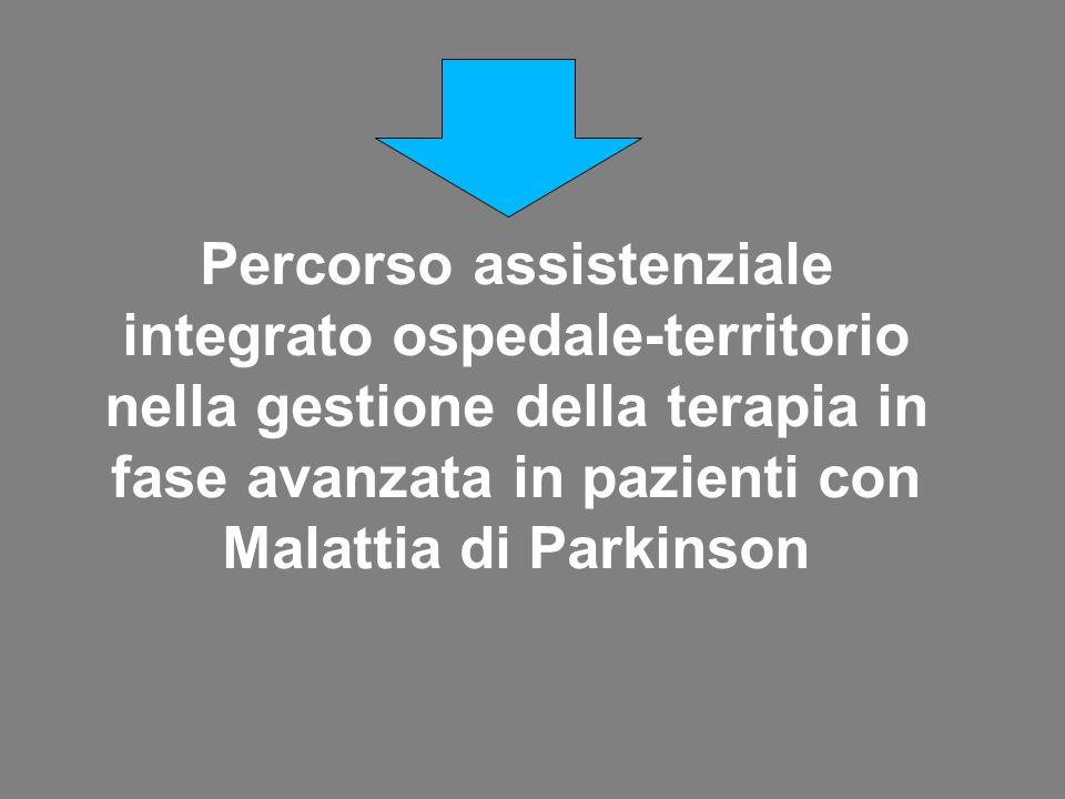 Percorso assistenziale integrato ospedale-territorio nella gestione della terapia in fase avanzata in pazienti con Malattia di Parkinson