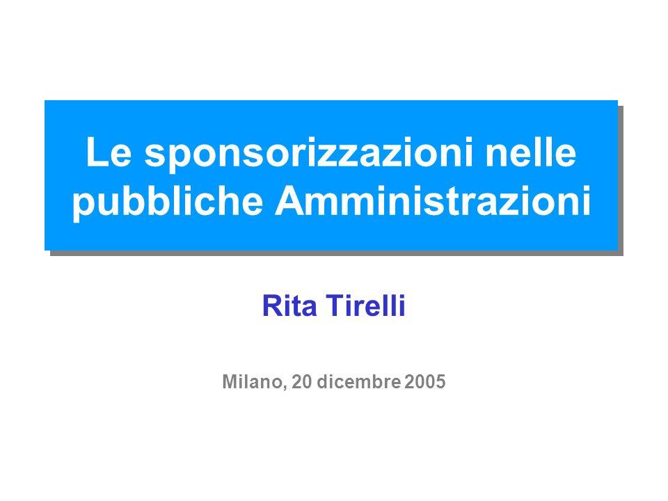 Le sponsorizzazioni nelle pubbliche Amministrazioni